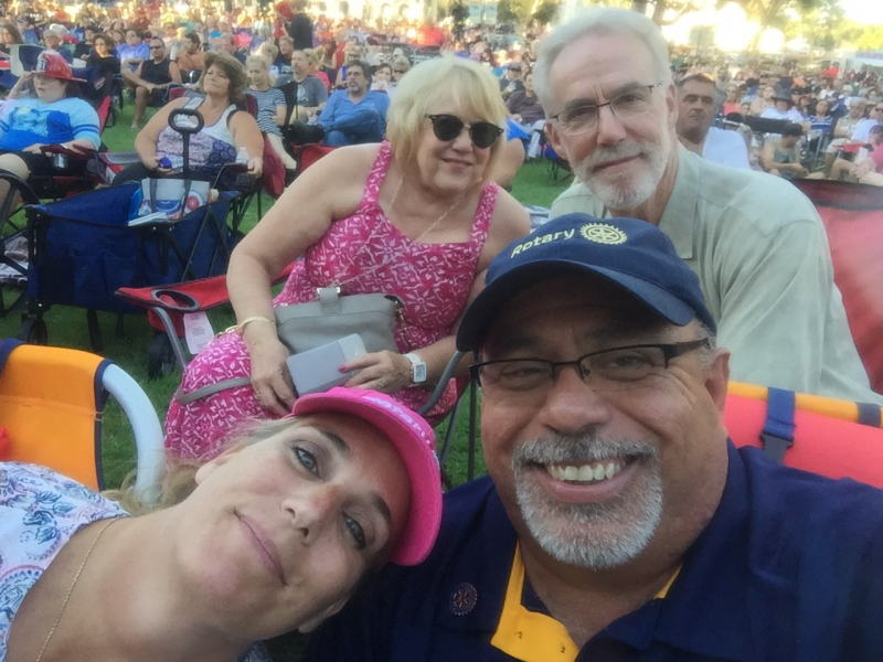 Youth Services Chair Ron Vander Molen with his lovely wife Suzanne enjoying the concert with Pomona Rotary President Victor Caceres and Wendy